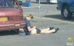 Ladies, if you are going to get drunk and pee in public, it is probably best to do it some place more private in case you pass out. Sitting in your own pee just is not dignified.: Rough Night, Humor Peopleofwalmart, Funny Walmart, Funny Pics, Funny Drunks