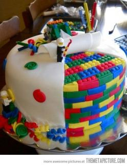 Lego cake. My son lost his mind when he saw this :): Lego Cake, Food, Cake Ideas, Kids, Birthdaycake, Awesome Cake, Party Ideas, Birthday Cakes