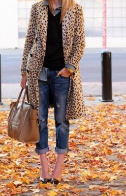 Leopard Chic: Fashion, Leopard Print, Style, Outfit, Leopard Coat, Fall Winter, Coats