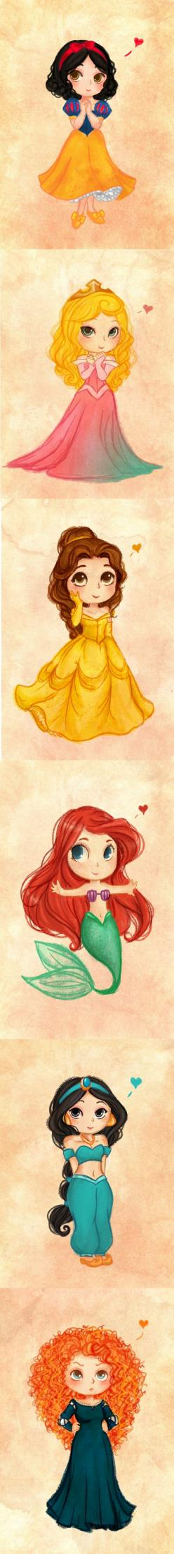 Les princesses   la quelle préférer vous ?: Disney Drawing, Chibi Princess, Disney Cartoon Drawing, Chibi Disney Princess, Disney Princesses Drawing, Disney Princess Cartoon, Disney Princess Drawing, Cartoon Disney Princess