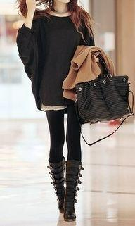 LoLoBu - Live Your Style.: Fashion, Style, Clothes, Travel Outfit, Oversized Sweaters, Fall Winter, Boots