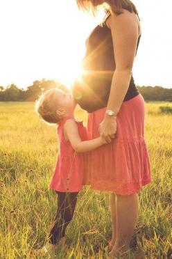 love the grass field and the sun right on the belly...would be cute to put daddy where little kid is if its your first baby.: Maternity Photos, Maternity Pics, Maternity Photography, Baby Sister, Photo Idea, Older Sibling, Sun Kissed, Kid