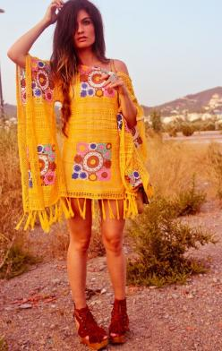 Love this dress! (I'd put it with some pants like those outfits they wear in India ... I think that would be really cute): Boho Chic, Fashion, Hippie Style, Dresses, Outfit, Vintage Dress, Boho Style, Bohemian