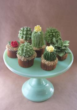Maybe my favorite cupcakes ever. #cupcakes #cupcakeideas #cupcakerecipes #food #yummy #sweet #delicious #cupcake: Cactuscupcakes, Idea, Cactus Cupcakes, Sweet, Cacti Cupcake, Food, Cup Cake, Dessert