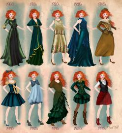Merida in 20th century fashion by BasakTinli by BasakTinli.deviantart.com on @DeviantArt: 1900S, Disney Princesses, Merida, Art, Basaktinli, 20Th Century, Brave Disneyprincess, Century Fashion