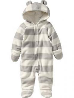 Micro Performance Fleece One-Pieces for Baby | Old Navy |$17.00 grey stripes, blue stripes, or multicolor stripes. Mason needs this.: