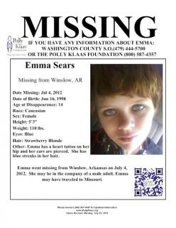 Missing Persons of America - Latest news and information about missing people Missing Persons of America: Emma Sears: Missing from Arkansas: Cold Cases Missing, Missing Cases, Missing Children Cases, Amber Alert, Amberalert Missing, People, Find Share Rep