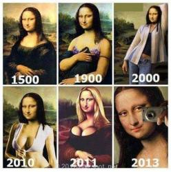 Mona Lisa Be Like   Extremely cool and hilarious. Mona Lisa as so many people in today's day and age :): Mona Lisa, Art, Funny Picture, Funny Stuff, Humor, Funnies, Funnystuff, Monalisa