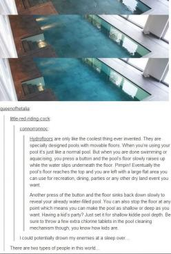 Not only do I think the last comment is funny, I also want this pool...: Giggle, Types Of People, Funny Stuff, Bahahahaha Xd, Comment, Kind