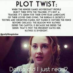 o.o (Pardon the.... well, I'm not even sure it counts as a cuss word. XD): Divergent Hunger Games, Books, Twists, Mind Blown, Crossover, Plot Twist, Hungergames, Divergent Insurgent Allegiant, Fandoms