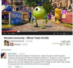 Oh my goodness...: Mind Blown, Stuff, Movies, Funny, Disney Pixar, So True, Thought, Things, Monster University