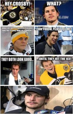 Oh, Penguins fans aren't going to like this one...  #nhl #hockey #funny: Hockeyhumor, Boston Bruins, Hockey Humor, Funny Hockey, Boston Sports, Hockey Hockey, Hockey Joke, Hockeyhockey, Funny Sports Memes