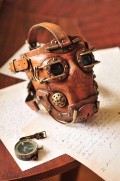 Ohh sweet lord…  This has to be the coolest steampunk mask i've ever seen, who made this and how can i get one..?: Gas Masks, Leather Mask, Steampunk Dieselpunk, Steampunk Masks, Iron Man, Steam Punk, Leather Steampunk, Steampunk Costume, Steampunk Gas