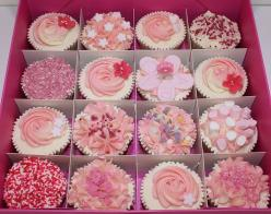 Pink cupcakes: Shower Ideas, Sweets, Pretty Pink, Food, Cup Cake, Pink Cupcakes, Party Ideas, Baby Shower