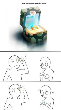 Portal Rings Could Be Dangerous: Wedding Ring, Stuff, Portal Rings, Funny, Video Games, Videogames, You Re Marrying