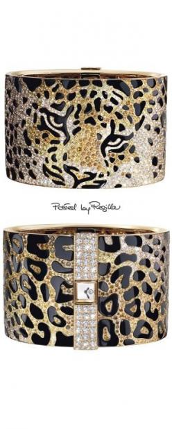 Regilla ⚜ Cartier - make this slightly narrower and replace the cuffs and cufflinks on a man's shirt- OH YEAH!: ̄ Jewelry Cuffs, Jewelry Watches, Fashion Mixedanimalprint, Animal Prints, Accessories, Leopard Prints, A Jewelry Cartier