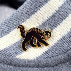 Retro Black Cat Pin: Lapel Pin, Cat Pin, Black Cats, Retro Black, Pins Accesorios, Products, Pin Pals