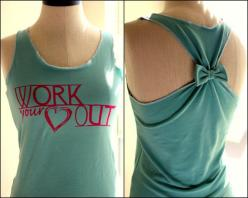 SALE Workout Clothes Racerback Tank Top WORK your by personTen, $20.00: Clothes Racerback, Health Fitness, Tank Tops, Racerback Tank, Bow, Sale Workout, Workout Clothes, Tanks