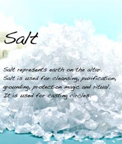 ✯ Salt ✯ Salt water is great for cleansing crystals. You can charge crystals with salt in the light of a full moon or other power astrological alignments. Also let them absorb the light of the Sun.: Pagan Wiccan, Wiccan Pagan, Cleansing Crystals, Wiccan S