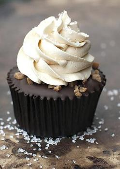 Salted Caramel Chocolate Cupcakes by Buttercream Couture: Salted Caramel Cupcakes, Buttercream Couture, Chocolate Cupcakes, Cupcake Recipe, Cup Cake, Caramel Chocolate, Salted Caramels