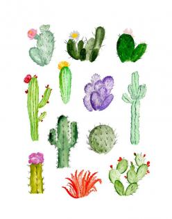 Shannon Kirsten x Buddy Editions // Shop exclusive limited edition art prints on www.buddyeditions.com: Watercolor Print, Shannon Kirsten, Watercolor Succulent, Cacti Drawing, Cactus Drawing, Cactus Watercolour