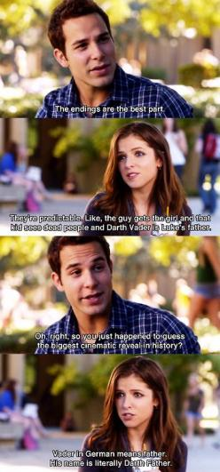 So good! Haha!  i'm gonna need a pitch perfect board soon. i love that movie. it's INCREDIBLY AWESOME: Perfect Board, Movies Tv, Aca Awesome, Pitch Perfect Quote, Movie Quotes, Pitchperfect, Darth Father, Anna Kendrick