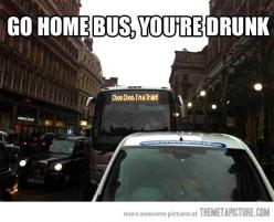 Stay sober. Laugh at drunk buses.: Buses, Giggle, Funny Stuff, Funnies, You Re Drunk, Homes, Choo Choo