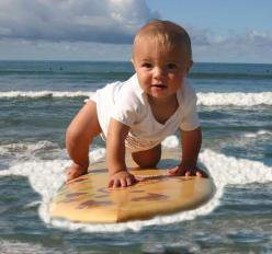 surf baby this just reminds me of Terry n all the kids that he's taught to surf....Love it great times: Baby Surfer, Surfer Baby, Lil Surfer, Adorable Kiddo S, Surfing Kids, Surfing Baby, Baby Boy