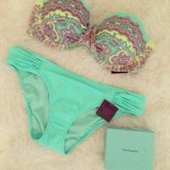 Swimwear: bikini, victoria's secret, gorgeous, underwear, blue ...: