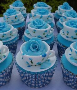 Tea cup cupcakes #Las_Vegas #Casino_Resort ~ http://VIPsAccess.com/luxury-hotels-las-vegas.html: Tea Party, Cup Cakes, Idea, Sweet, Teacup Cupcakes, Food, Teas, Blue Rose, Tea Cups