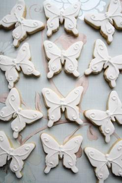 Tea Party Cookies using a Fan Cookie Cutter, Teacup Cookie Cutter and Teapot Cookie Cutter. #decorated #cookie by @Sweetopia ~ Marian Poirier: Cake, White Wedding, Butterfly Wedding, Butterfly Cookies, Food, Decorated Cookies, Baking, Cookies Butterflies,