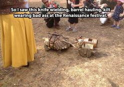 The most badass tortoise…: Bad Ass, Funny Pictures, Renaissance Festival, Knife Wielding, Kilt Wearing, Badass Tortoise, Barrel Hauling, Turtle