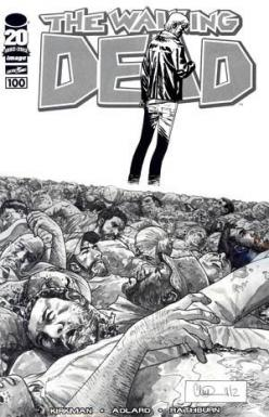 The Walking Dead: The Walking Dead, 100 Black, 100 Charlie, Black White, Sketch Variant, Sketches, Adlard Black, White Sketch