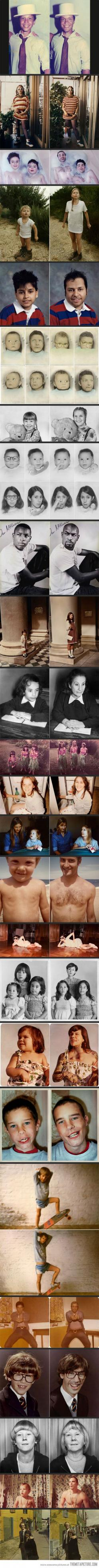 Then and Now Photos. great gift for parents - these kill me: Picture, Photos, Idea, Then And Now, Photo Recreation, Funny, Great Gifts, Photography