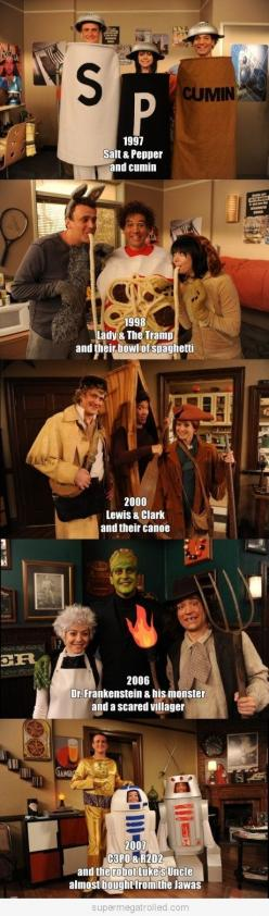 #Third Wheel Costumes- How I Met Your Mother @Angela Gray Castillo I'm so doing this next year with you and Gerson!!!!! lmao!!!!!  Like, comment and share it!: Halloween Costume, With, Mother, Wheels, Himym, Third Wheel, Wheel Costume, Thirdwheel