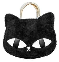 This anime inspired bag is right on trend with Tokyo's street fashion. Not only is the purse purr-fectly catty, it is practical too!: Cats, Cat Bag, Cat Purse, Animal Print Bags, Cat Handbag