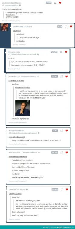 This is the funniest thing I've read in a while. Tumblr stuff. I might have already pinned this but just incase here it is again.: Giggle, Laughing So Hard, Cereal Water, Feelings Hookers, Funny Stuff, Tumblr Posts, Sea Pancakes, So Funny