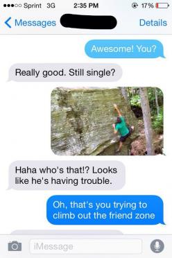 This is the meanest response I could possibly imagine hahaha: Funny Stuff, Friend Zone, Funnies, Humor