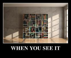 This isn't one of those scary ones, it is really cool! I really really really want one of these book shelves....haha: Ideas, Books, Bookcases, Awesome Bookcase, When You See It, Funny Stuff, Book Cases, Things