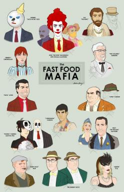 this so reminds me of when my little cousin use to refer to ronald mcdonald as the don ronald..LOL: Food Mafia, Random, Funny Stuff, Funnies, Humor, Fast Food, Fast Foods