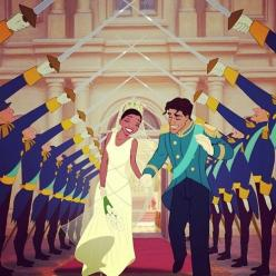 Tiana and Naveen are the first Disney Princess couple to have wedding rings: Wedding Ring, Disney Couple, Disney Princessandthefrog, Tiana, Disney Princesses, Disney Theprincessandthefrog, Princess Couple, Disney Weddings