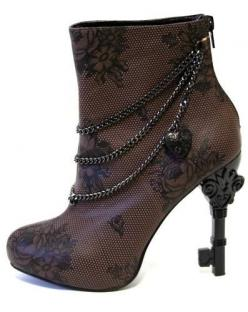 Too Fast Steampunk Unlock This Lace Brown Chain Victorian Key High Heel Boot | eBay: Shoes, Style, Steam Punk, Key Heel, Steampunk, Boots