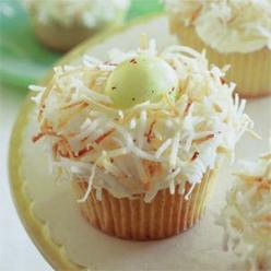 top your cupcakes with some toasted coconut and add some chocolate malt eggs for a spring nest: Easteregg, Cupcake Recipe, Nest Cupcakes, Food, Cupcakes Recipe, Easter Eggs, Easter Cupcakes, Nests
