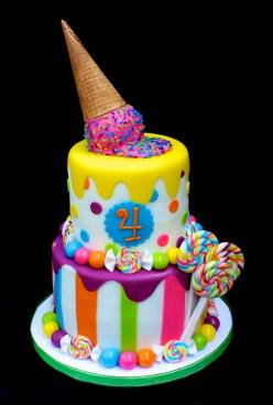 What a fun colorful cake for a birthday party!!: Cake Ideas, Ice Cream, Birthdaycake, Candy Cakes, Candy Land, Party Ideas, Birthday Party, Birthday Cakes