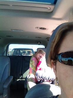 When you see it.... Also can you just appreciate the fact the driver took a selfie, too?: Picture, Kid Wakes, This Funny, Kinda Scary, Rachel Carson, When You See It Scary Creepy