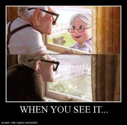 When You See It... pay attention to the bottom picture .... I seriously didn't think UP could get any more sad then it already was.: Disney Magic, Sweet, Window, Movies, When You See It, Disney Pixar, My Heart, Things Disney, So Sad