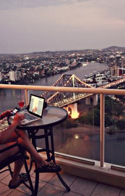 With calming and soothing view, doing the job I love, with nice laptop and phone, wearing comfortable sandals. My future life :): Cities, Dream, Apartment, City Life, Travel, Things, Places, View, Space