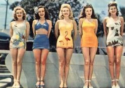 1940's bathing suits! Absolutely adorable!: Vintage Swimsuits, Bathing Suits, Fashion, Style, Vintage Swimwear, 50 S, Bathing Beauties, 1940
