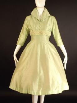 1950s Lime Alaskine Dress & Bolero at Vintage Martini – Vintage Martini-Designer Contemporary & Vintage Consignment Clothing: Green Alaskine, Vintage Dresses, Alaskine Dress, 60 S50Svintage Styledress, Lime Green, 1950S Lime, 1950S Fashion