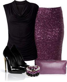 """""""Purple Sequin Skirt"""" If only I had some place to wear this!"""